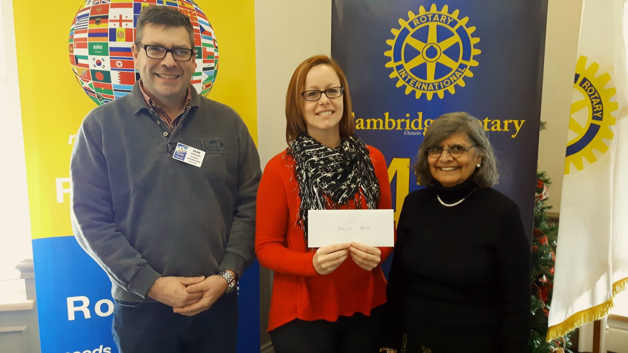 Cambridge North Rotary Supports Haven House