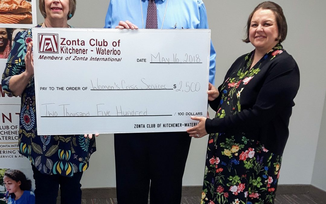 Thanks, Zonta Club of Kitchener – Waterloo, for Your Support